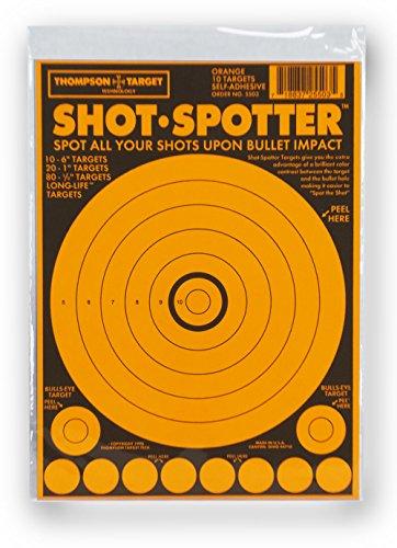 Shot Spotter Yellow - Self Adhesive Peel & Stick Gun Range Shooting Targets 6 x 9 Inches (10 Pack)