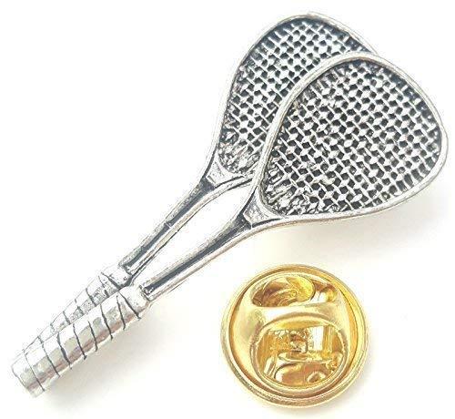 Raquette de Squash Fait à la Main avec Anglais en Étain The UK Badge + 59mm Bouton Badge + Sac Cadeau