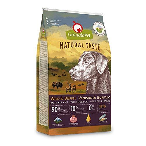 GranataPet Natural Taste Wild & Büffel, Trockenfutter für Hunde, Hundefutter ohne Getreide & ohne Zuckerzusätze, Alleinfuttermittel für ausgewachsene Hunde, 4 kg
