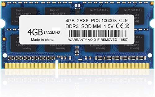 BPX PC3-10600, DDR3 1333, 4 GB DDR3 PC3 10600S 204 Patillas DDR3 4GB CL9 1.5v módulo de Memoria RAM de actualización para el Cuaderno del Ordenador portátil