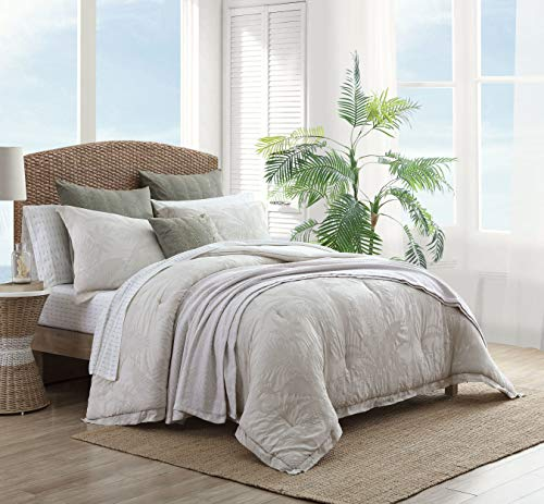 Tommy Bahama | Abalone Collection | 100% Cotton Soft and Breathable Comforter, All Season Bedding Set, Pre-Washed for Added Softness, Queen, Beige