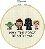 Dimensions 72-76143 Star Wars Family Counted Cross Stitch Kit, 14 Ivory Aida, 6' Diameter