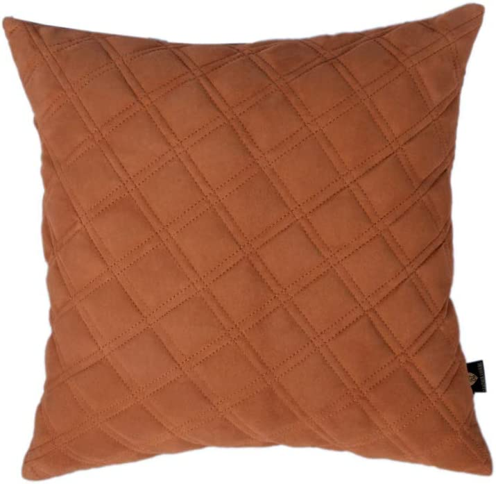 D DOLLY LAMB 100% 公式通販 Lambskin Beige Diamond Suede Leather Pillow Co 低価格