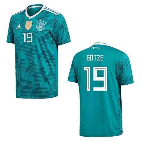 adidas DFB Deutschland Trikot Away Kinder 2018/2019 - GÖTZE 19, Größe:140