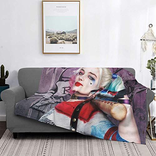 S-Uicide S-Quad Mantas, manta de felpa ultra suave, mantas de forro polar para sofá cama y sala de estar, 150 x 100 cm