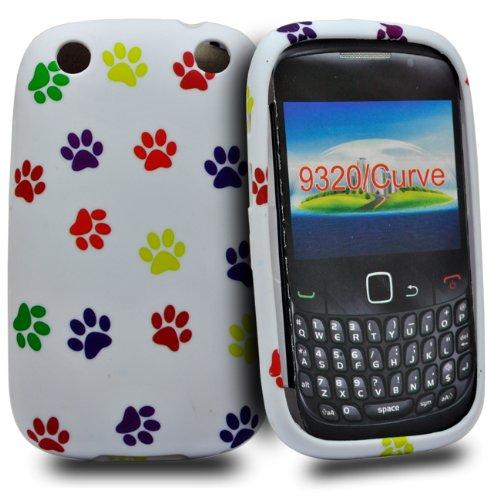 Accessory Master-Custodia a Conchiglia in Silicone per Blackberry Curve 9320, con Disegno Impronte Colorate, Colore: Multicolore