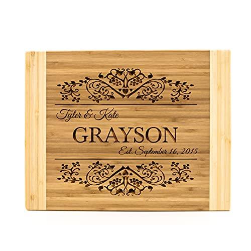 Personalized Bamboo Cutting Board (11 x 14' Two Tone, Grayson Design)...