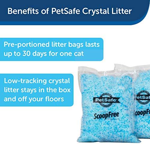 PetSafe ScoopFree Premium Blue Non Clumping Crystal Cat Litter, 2-Pack