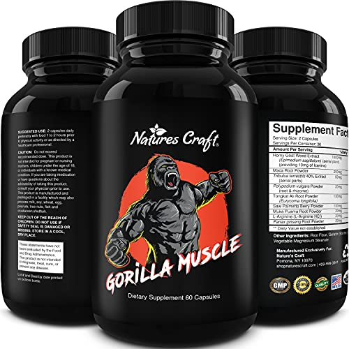 Testosterone Booster for Men - Natural Testosterone Booster for Men with Horny Goat Weed Maca Root Powder Tongkat Ali and Saw Palmetto Extract - Male Enhancement Pills for Men