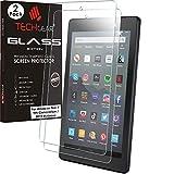 TECHGEAR [2 Stück Panzerglas für Amazon Neue Fire 7 Tablette (2019 Veröffentlichungs / 9. Generation) - Bildschirmschutzfolie aus gehärtetem Glas [9H Festigkeit] [Crystal Clarity] [Kratzfest] [Keine Bubble]
