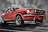 Bilderdepot24 Fototapete selbstklebend Mustang Graphic -