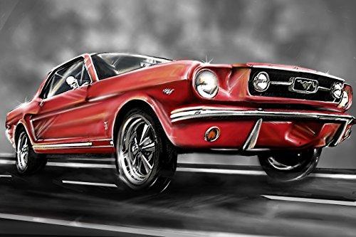 Bilderdepot24 Fototapete selbstklebend Mustang Graphic - 135x90 cm