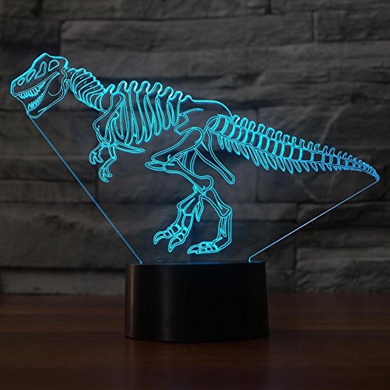 Mozhate 7 Farben Allmhliche nderung 3D Führte Visuelle Dinosaurier Skelette Schreibtischlampe Für Kinder Hause Schlaf Beleuchtung Atmosphre Dekor Nachtlicht Geschenk,Remote und berühren