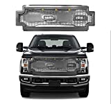 Prestige Grille Compatible with Ford F250 F350 F450 Super Duty Raptor Style Grille Includes F+R – GRAY - Fits 2017-2019