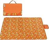 Guuisad Picnic Manta Oxford Textil Manta de Picnic Manta Impermeable Al Aire Libre Matera Portátil Plegable Portátil Espesor Padre Picnic Pista Adecuado para Playas de Viaje Familia Reunir