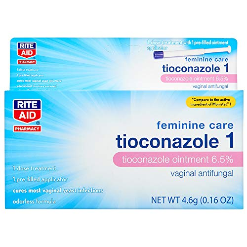 Rite Aid Tioconazole 1 Ointment, 1 Day Treatment - 0.16 oz | Vagina Antifungal | Yeast Infection Treatment
