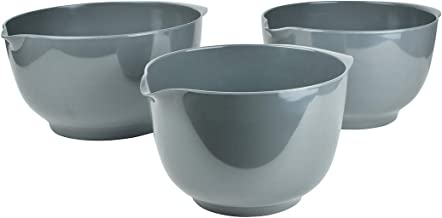 Hutzler Melamine Mixing Bowl Set: 2, 3 and 4 Liters, Gray