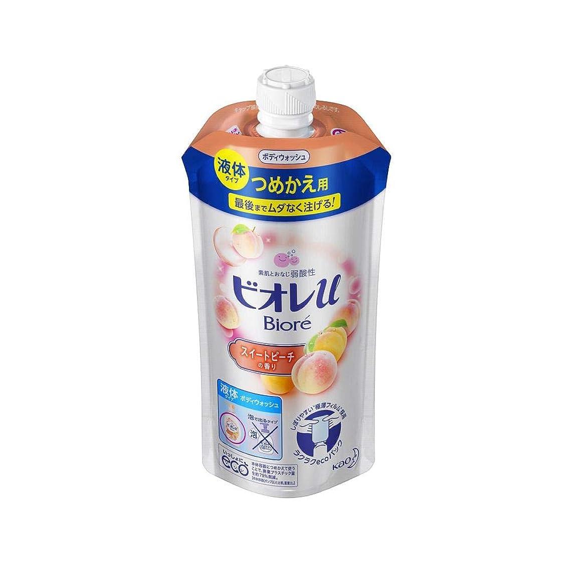 キノコ急勾配の実験花王 ビオレu スイートピーチの香りつめかえ用 340ML