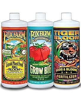 FoxFarm FX14050 Big Bloom Grow Big & Tiger Bloom Liquid Fertilizer Nutrient Trio Hydro-Formula 3/32-Ounce Bottles