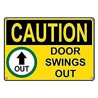 安全標識-注意ドアが外に出る。インチ金属錫標識通知警告標識