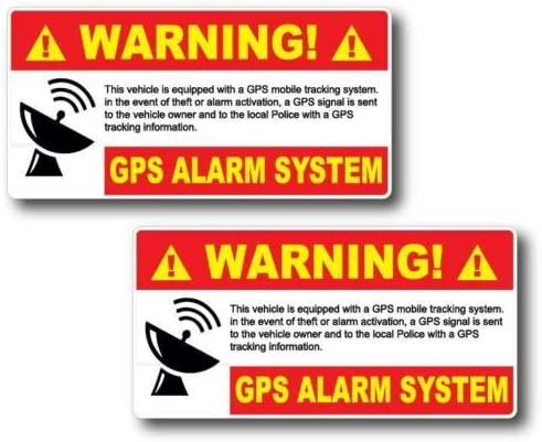 2 Pack GPS Alarm System Warning Decal Security Sticker Vinyl Car Truck Home product image