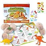 Ulikey 12PCS Dinosaur Eggs, Huevos de Dinosaurio de Kit de Excavación, Descubre 12 Dinosaurios Diferentes, Dino Egg Dig Kit, Fiesta de Pascua de Juguete Stem Juguetes Educativos para Niños