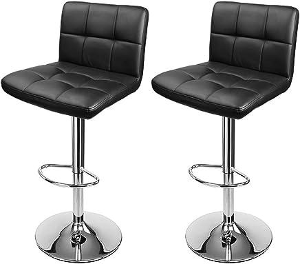 cde6cf7b75ea D4P Display4top Taburetes de Bar, con Estructura cromada, sillas giratorias  de 360 Grados,