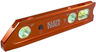 Klein Tools 935RBLT Level, Lighted Torpedo Level with Magnet, 3 Vials and V-Groove, Water..