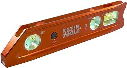 Lighted Level, Magnetic Torpedo, 3 Vial, V-Groove and Magnet Track Klein Tools 935RBLT