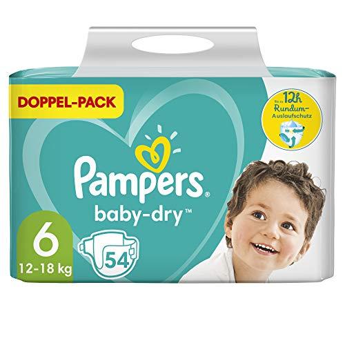 Pampers Größe 6 Baby Dry Windeln, 54 Stück, Für Atmungsaktive Trockenheit (13-18kg)