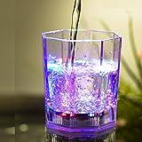 Set di 4 bicchiere da cocktail 177 ml in plastica luminosa a led multicolore a...