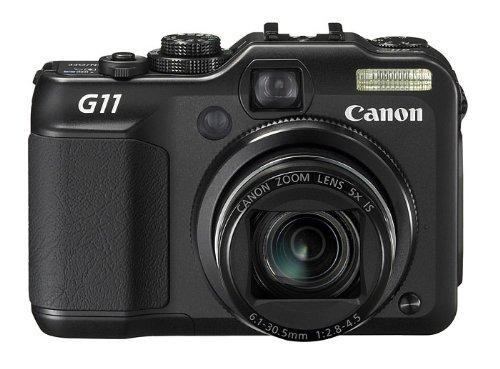 Canon PowerShot G11 Digitalkamera (10 MP, 5-fach opt. Zoom, 7,1cm (2,8 Zoll) LCD-Display) schwarz