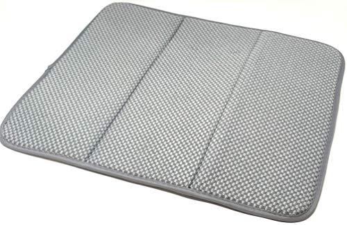Wilma nature afdruipmat van hoogwaardige microvezels, 41 x 46 cm, geen beslaan van glazen en Co. - Extreem sneldrogend | opvouwbaar en ophangbaar.
