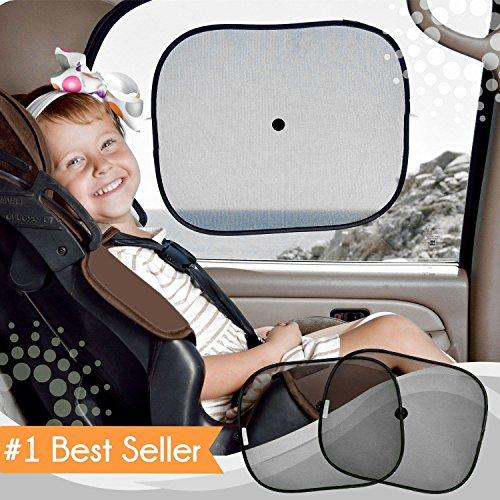 Zonwering auto baby (2 stuks) - zonneklep auto met UV-bescherming voor kinderen, hond in de achterbank