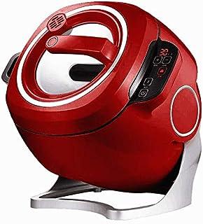 Zcm Estufa eléctrica 220V Hogar & amp Comercial eléctrico automático Inteligente freír máquina 6L Antiadherente Que Cocina el Wok Olla Olla a múltiples (Color : White 220V)
