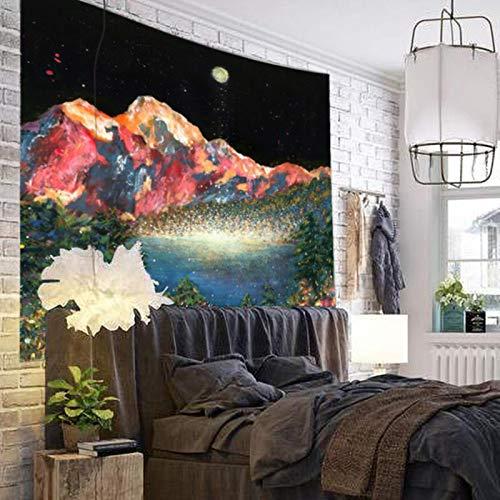 ADAFY Tapiz de montaña Sunset, tapices para Colgar en la Pared, Arte de Pared para decoración del hogar, Sala de Estar, Dormitorio, Arte de Pared de Gran tamaño