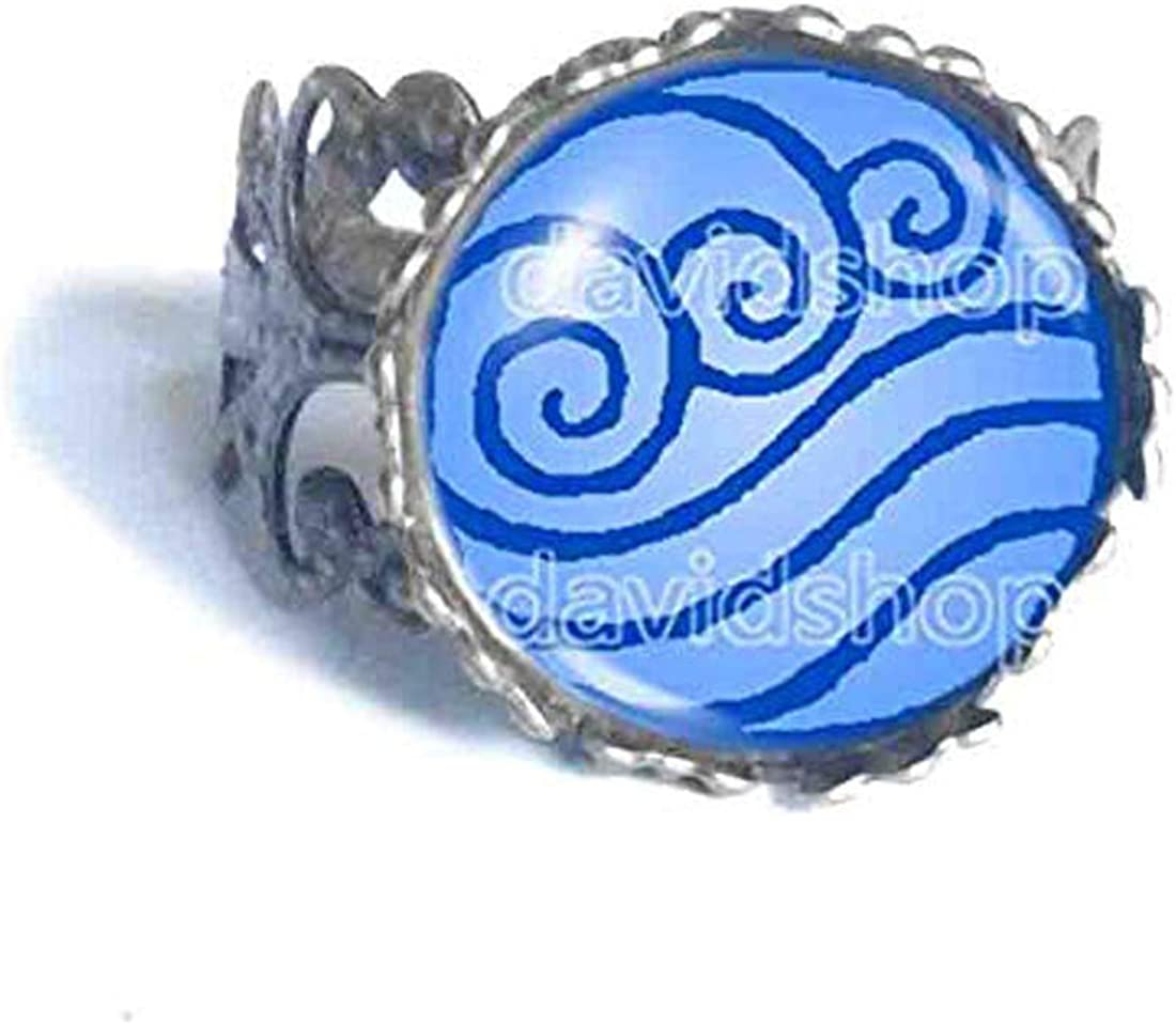 Handmade Fashion Jewelry Water Tribe Avatar The Last Airbender Ring Legend of Korra Cosplay