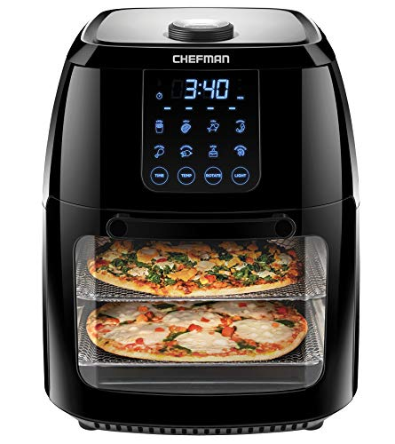 Chefman 6.3 Quart Digital Air Fryer+ Rotisserie, Dehydrator,...