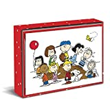 Graphique Peanuts Gang Boxed Notecards, 16 Peanuts Friends CardsEmbellished with Glitter, with Matching Envelopes and Storage Box, 3.25' x 4.75'