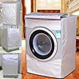 Metyere Automatic Roller Washing Machine Cover 58 cm - 65 cm Waterproof Sunscreen Fabric Zipper Design for Easy Use Dustproof Waterproof Breathable
