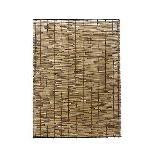 水勘製簾所 いぶし焼 天津 すだれ 特大 ブラウン 約幅88×長さ180cm 日除け 目隠し いぶし焼加工で虫やカビが付きづらい 簾