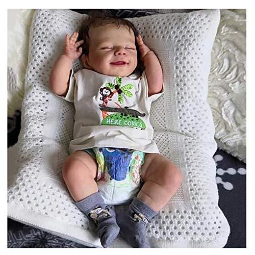 Bias&Belief 20 Pulgadas Muecas Reborn Realista Vinilo de Silicona Suave Hecho A Mano Reborn Toddler Babies Juguetes,Educacin Temprana,Girl