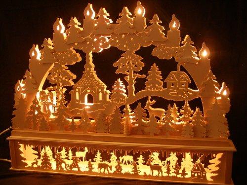 SchwibboLa Original erzgebirgischer Marken schwibbogen lichterbogen 70 x 53 cmk70-b_30, 1