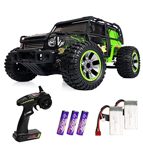 RC Cars 1:10 Scale Large High Speed Remote Control Car for Adults Kids,30 mph 4WD 2.4GHz Off Road RC Monster Truck Toy, All Terrain All Weather Electric Vehicle Boy Gift with 2 Batteries for 40+ Min