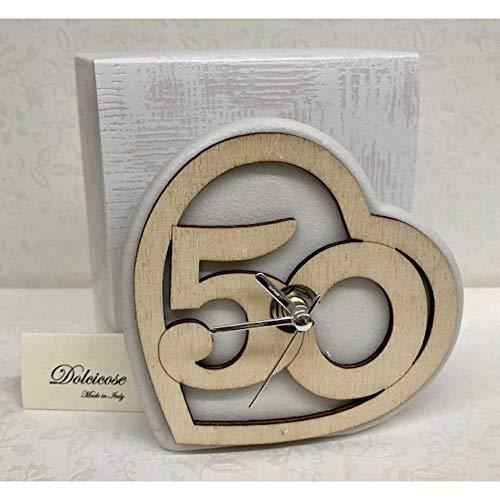 L'horloge des 50 ans de mariage pour noces d'or
