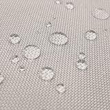 Breaker Teflon - tessuto in poliestere con un rivestimento acrilico - stoffa al metro (Grigio chiaro)