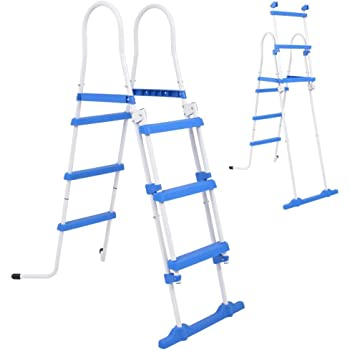 Bestway - Escalera de seguridad para piscinas elevadas, 4 peldaños ...