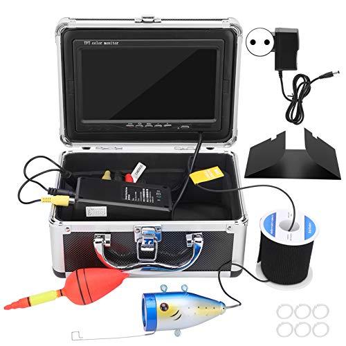 Mxzzand Videocamera per Pesca Subacquea Schermo a Colori Video Fishfinder con 12 luci LED ad Alta Potenza per Mare/Neve(European regulations)