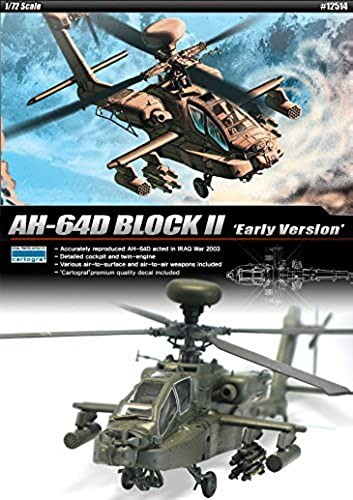 1 72 AH-64D BLOCK II Early Version  12514 ACADEMY HOBBY KITS by Academy Models