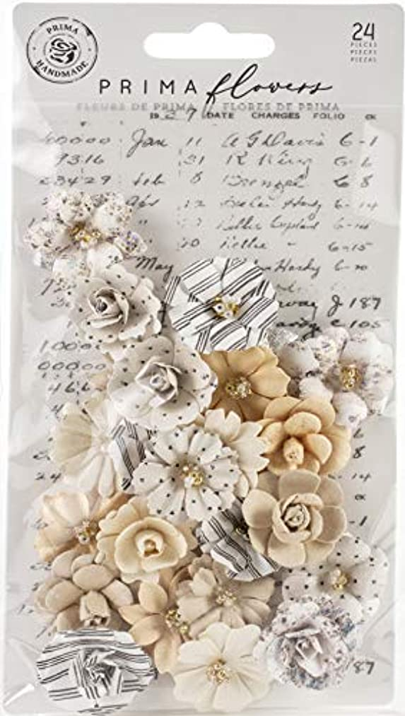 Prima Marketing 637668 Pretty Pale Paper Flowers 24/Pkg-Flash Beauty